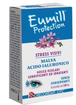 Recordati Eumill Protection Malva e Acido Ialuronico Gocce Oculari Flacone 10 ml
