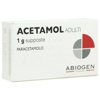 Acetamol Adulti 1 G Supposte 10 Supposte